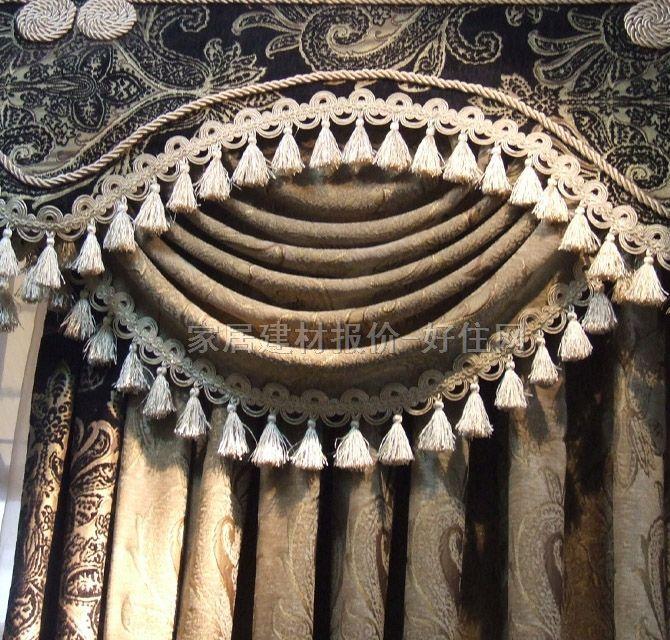 布居艺阁垂帘竖帘落地帘 ayt-1欧式提花 订做 棉质 暖色调