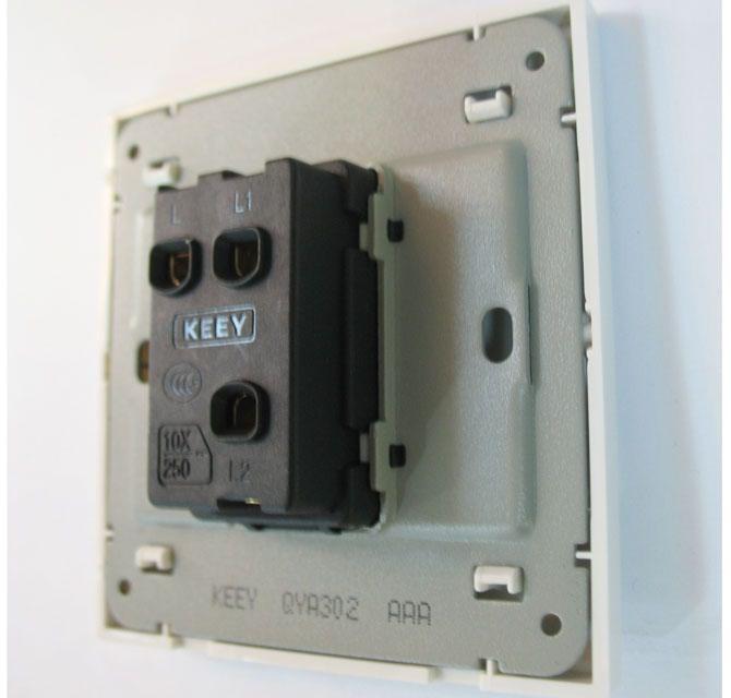 企一照明大跷板开关面板 qya302 1位单控 白色方形