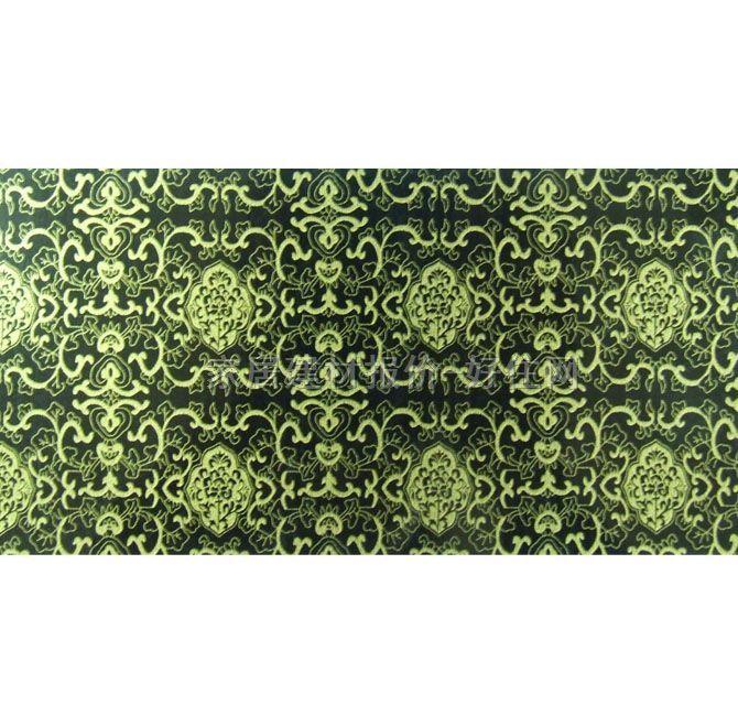 墨绿色欧式花纹壁纸