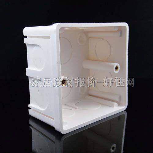 西门子底盒(接线盒) pvc远景5tgo602 86mm×86mm×60mm×单盒