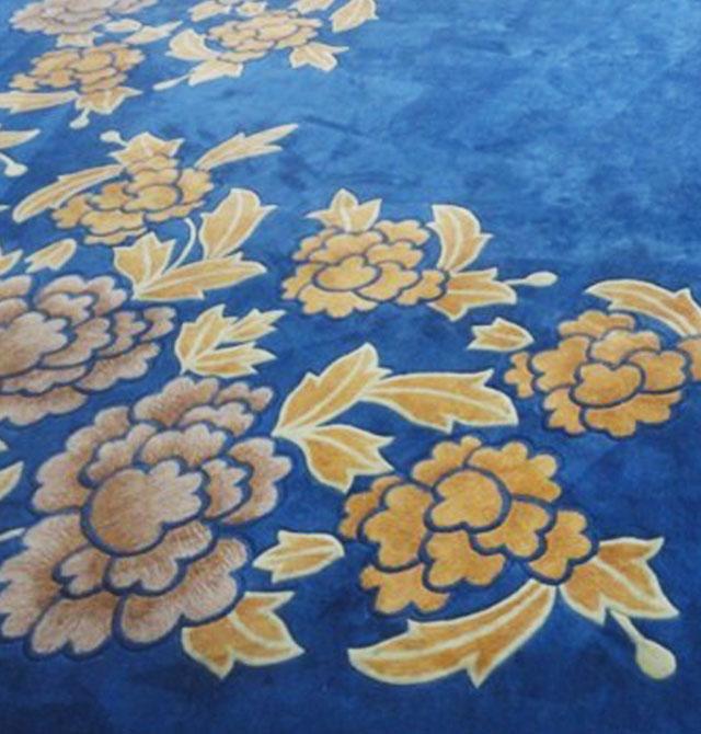蓝色欧式花纹地毯贴图