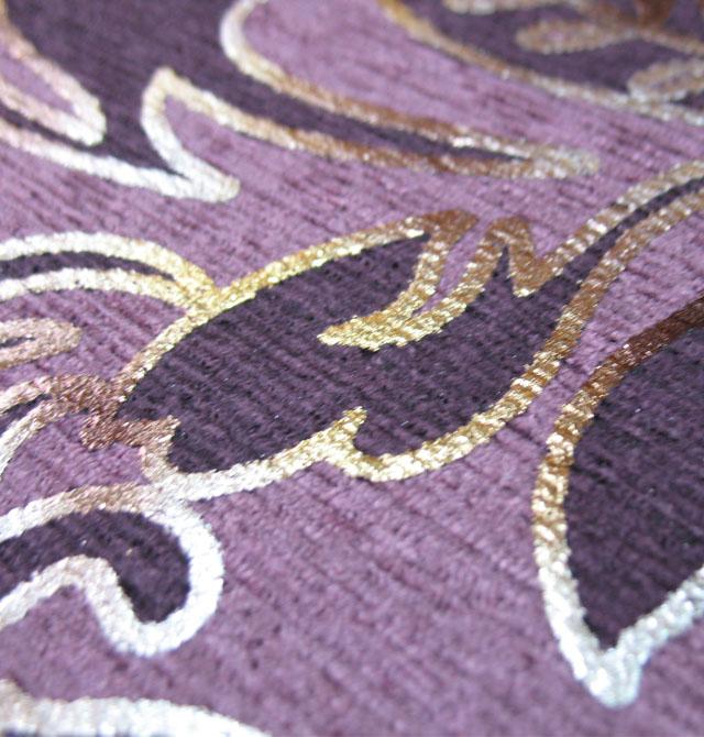 05米 材质类型 :绒面pvc底 图案 :欧花 颜色 :紫色     配送目的地