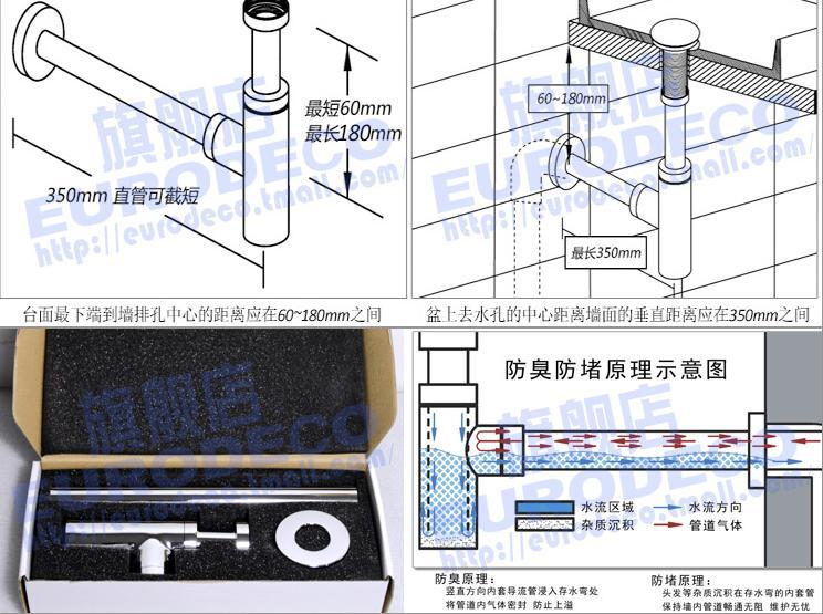 :全铜墙排落水管防臭去水eu26cb01