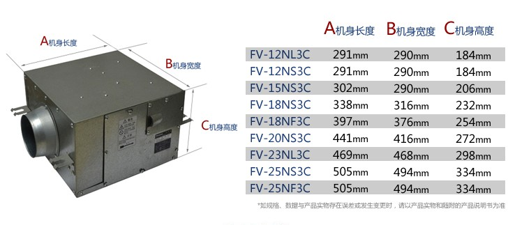 【松下排气扇换气扇_静音型送风机FV-25NS3