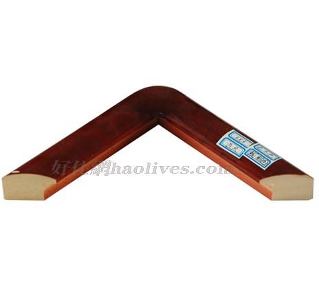 艺凡 镜框画框 圆角国画框/字画装裱框 600mm×600mm 白木 红木色