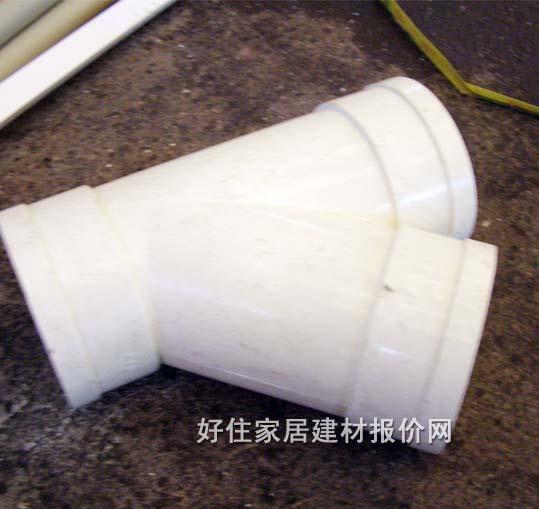 联塑 PVC U 异径三通 供排水燃气管配件,PVC U排水管配件