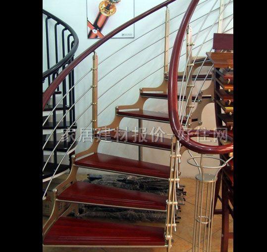 南虹室内楼梯木扶手钢结构铝合金ys-801g订做