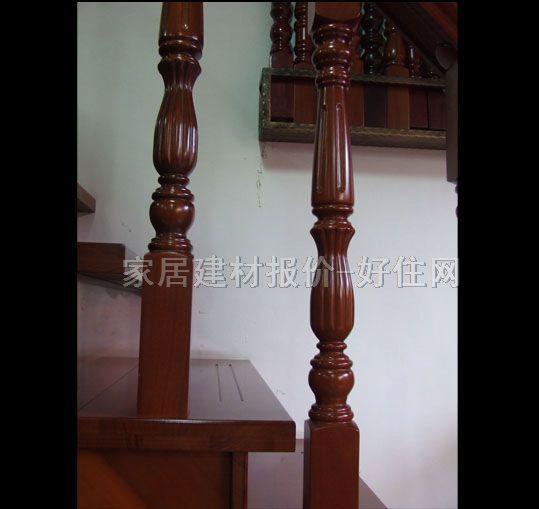 涛艺 实木楼梯 红檀香 实拍图片 楼梯及楼梯配件,常规楼梯