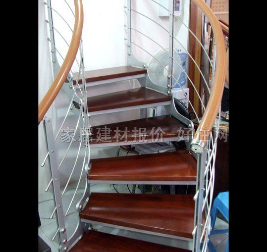 明丰室内楼梯 实木踏步钢骨架碳钢 订做