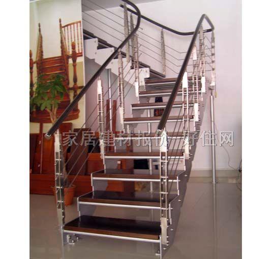 钢木结构楼梯/钢木结构楼梯橡木zg-9004
