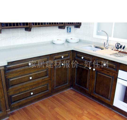 欧派厨房地柜 仿木纹 烤漆板