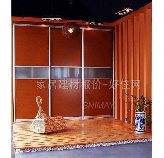 诗尼曼衣柜推拉门 特色边框门 订做
