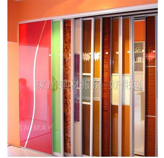 诗尼曼 卧室衣柜推拉门 清玻璃轻轨门 家私家具,卧室家具