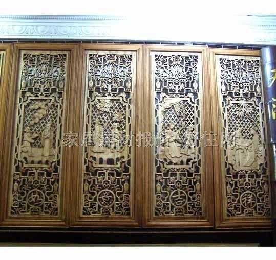 中式窗花格黑白贴图图片分享;