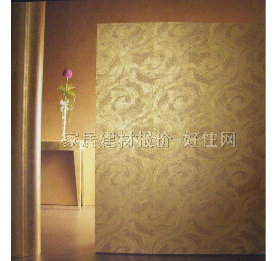 金色欧式大花壁纸