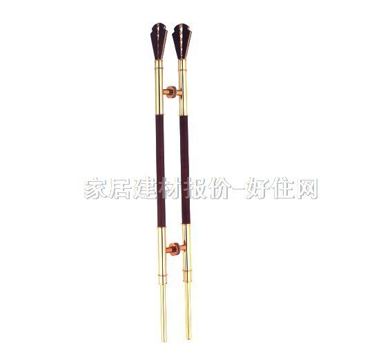 新精钢玻璃门拉手 长条造型不锈钢实木材质 xjg-372钛金桃木 常用规格