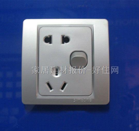 品牌名称 :西蒙 型号系列 :53系列c51086a 插孔位数 :二三极带1位双控