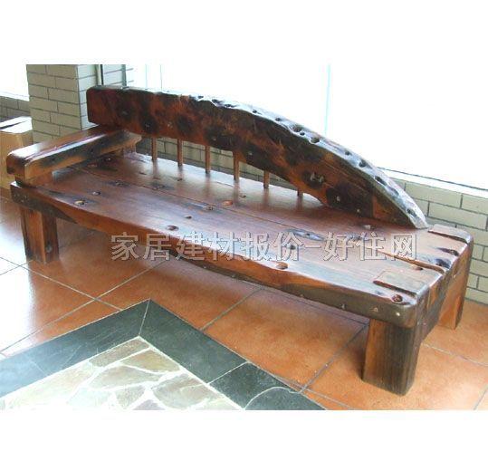 旧水宝船木椅子 船木贵妃椅