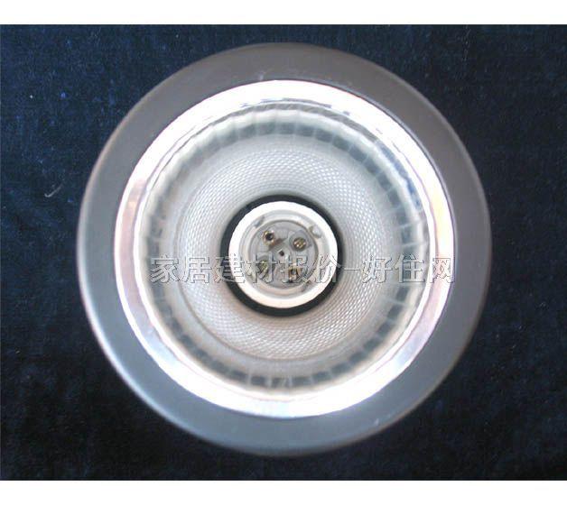 达美风行明装筒灯 3107 Φ3寸 铝合金材质白色 圆形 螺口灯泡