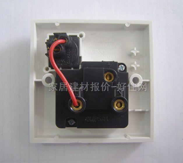 奇胜带开关插座面板 e30 三极带1位单控 白色