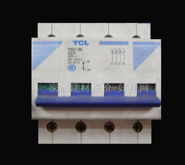 tcl-罗格朗断路器空气开关 tig1-32 4p 32a 空气开关(塑壳断路器)