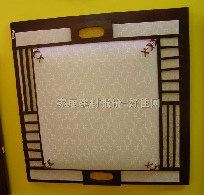 方形 650mm×700mm 古典传统风格 白底带图案羊皮纸