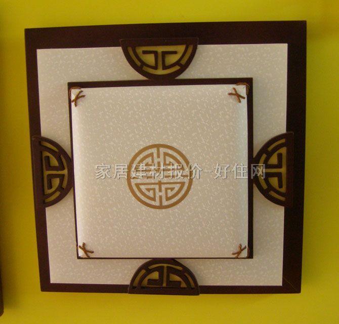 方形 400mm×400mm 古典传统风格 白底带图案羊皮纸