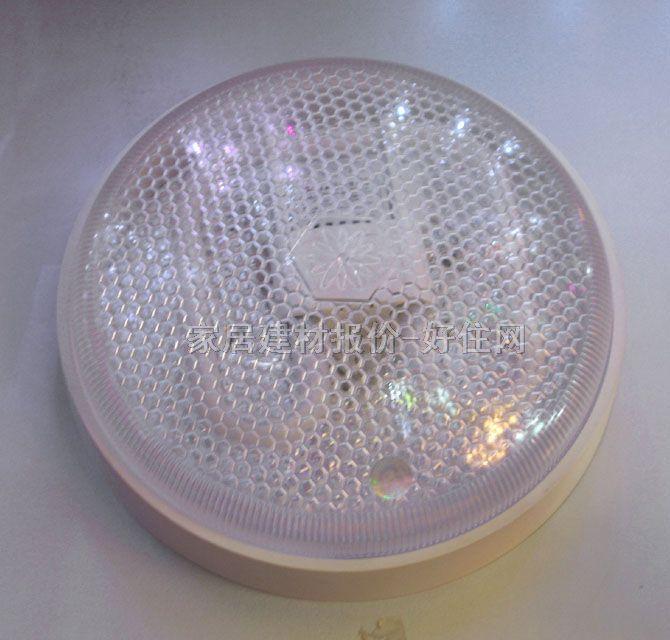 欧美斯吸顶灯 厨卫阳台灯 网格 圆形 现代流行风格 透明亚克力