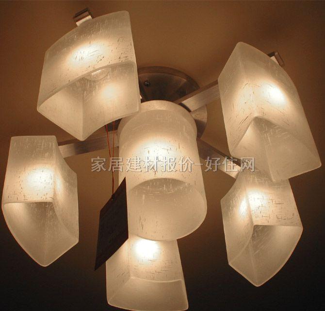 吊灯欧式玻璃灯罩白色叶子样式灯罩夹片配ji件
