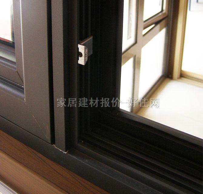 【oplv平开窗_铝合金黑色