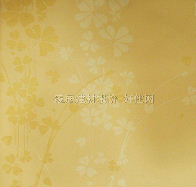 雷克萨斯墙纸 欧式风格黄色小花lx-6308 宽530mm×长10米 花 黄色图片