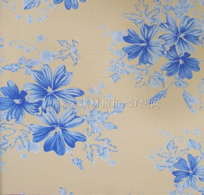 【雷克萨斯墙纸_欧式风格蓝色小花lx-6206