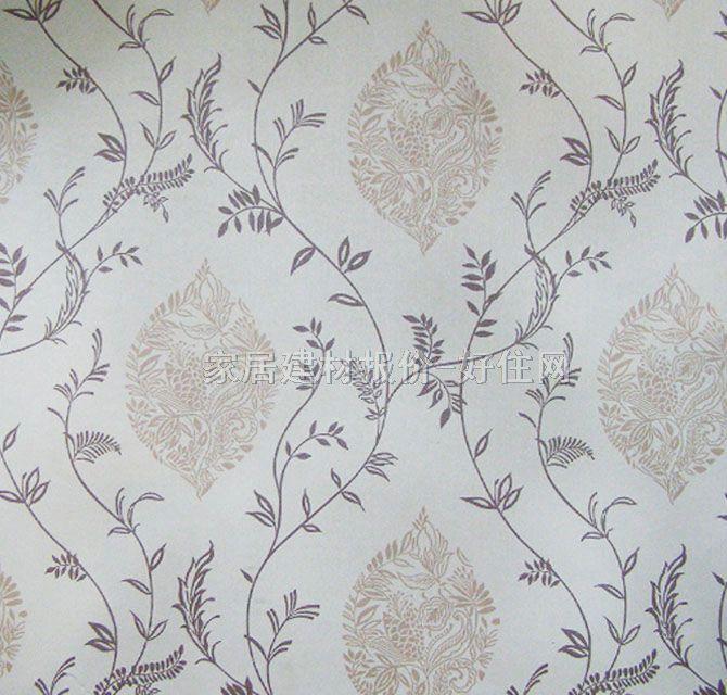 雷克萨斯墙纸 欧式风格米白藤蔓 宽530mm×长10米 花 白色图片