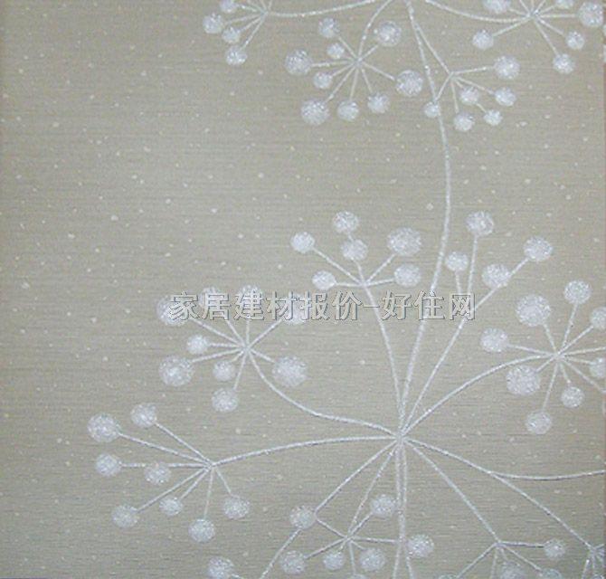 lg墙纸 欧式风格银色大梅花