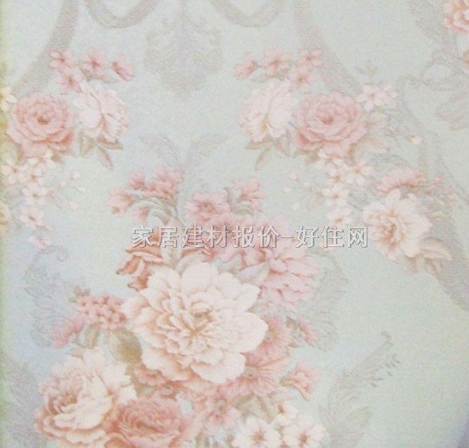 泰特墙纸 欧式风格红色花朵 1.06×15.6m 花 蓝色