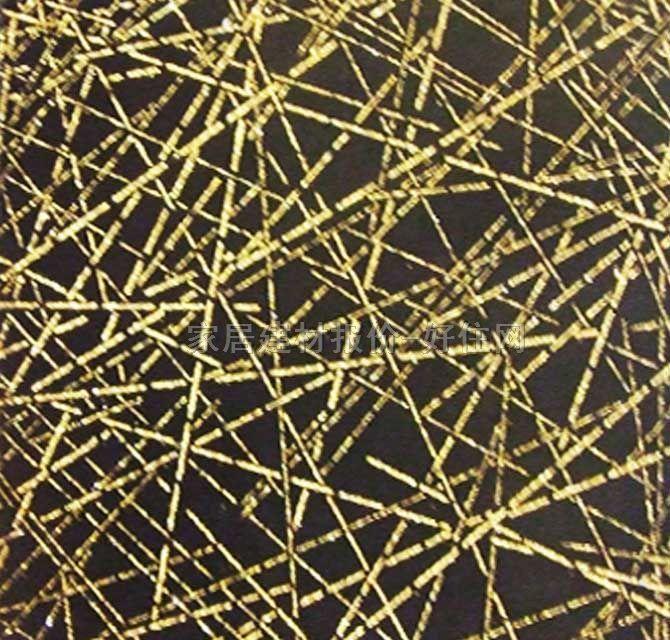 泰特墙纸 现代抽象金色花纹 1.38×50m 几何 金色
