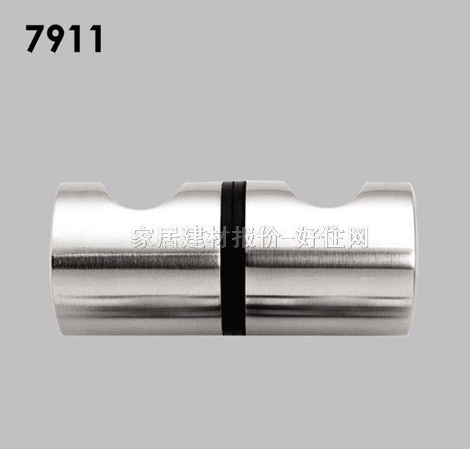 雅之杰柜门抽屉拉手亮银色小拉手7911不锈钢简约圆柱形