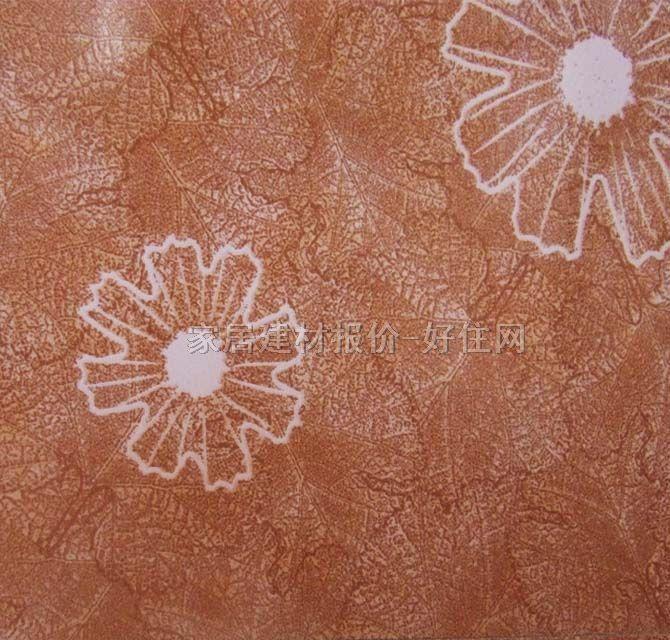 釉面砖花草图案深黄色花朵
