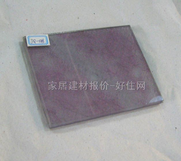 白云夹丝夹层玻璃 紫色花纹 5+5mm
