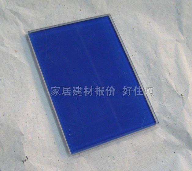 蓝色半边框素材