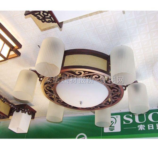 香山木吊灯 md7-142 木质灯架 磨砂玻璃灯罩 传统复古风格 h270×w760