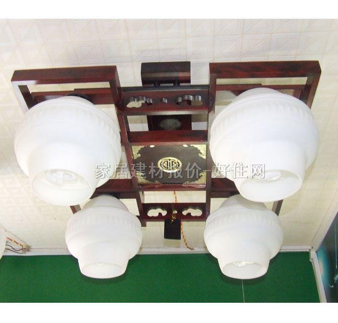 香山木吊灯 md4-043 木质灯架 磨砂玻璃灯罩 传统复古风格 540×540m