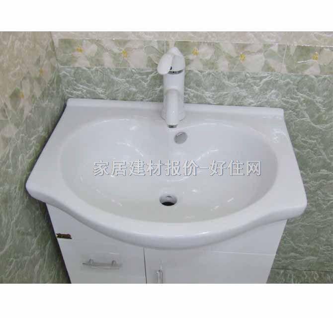 美标独立面盆柜 pvc亚克力白色洗手盆 620mm×450mm×800mm