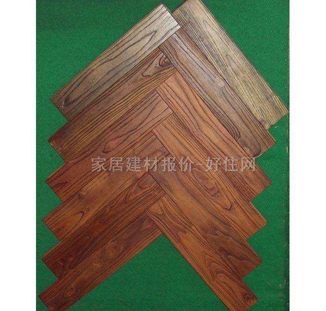 实木地板有哪些种类: (1)企口实木地板(也称榫接地板或龙凤地板):该地板在纵向和宽度方向都开有榫槽,榫槽一般都小于或等于板厚的1/3,槽略大于榫。绝大多数背面都开有抗变形槽; (2)指接地板:由等宽、不等长度的板条通过榫槽结合、胶粘而成的地板块,接成以后的结构与企口地板相同; (3)集成材地板(拼接地板):由等宽小板条拼接起来,再由多片指接材横向拼接,这种地板幅面大、尺寸稳定性好; (4)拼方、拼花实木地板:由小块地板按一定图形拼接而成,其图案有规律性和艺术性。这种地板生产工艺复杂,精密度也较高; 适