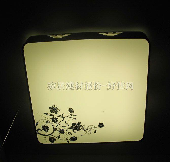 方形 款式风格 :简约风格 适配光源 :节能灯 灯罩颜色材质 :白底带