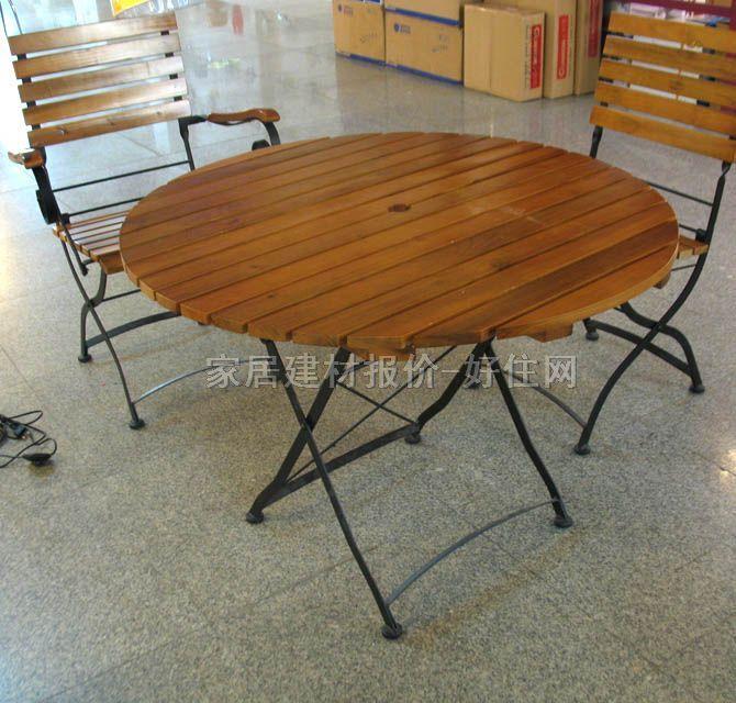 户外折叠桌椅_钢木圆桌t002 t_好美家装潢建材超市-好
