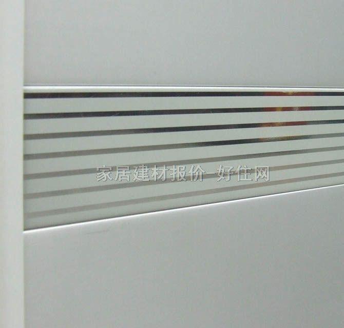 现代铝扣条形天花 覆膜银彩d50镜面条纹 订做
