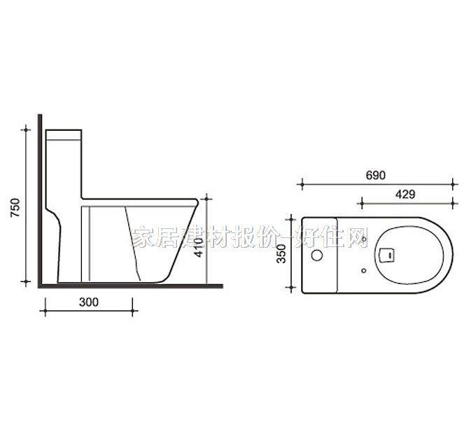 美标马桶结构图